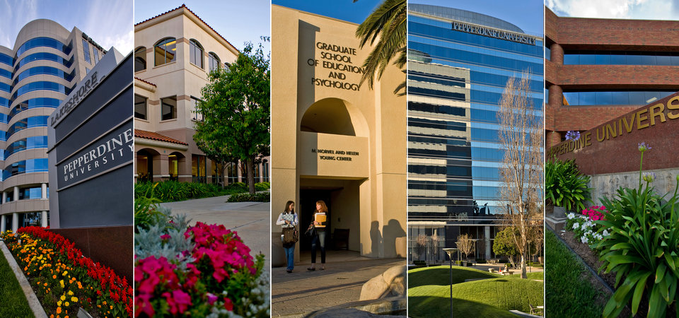 A collage of graduate campuses - Pepperdine University