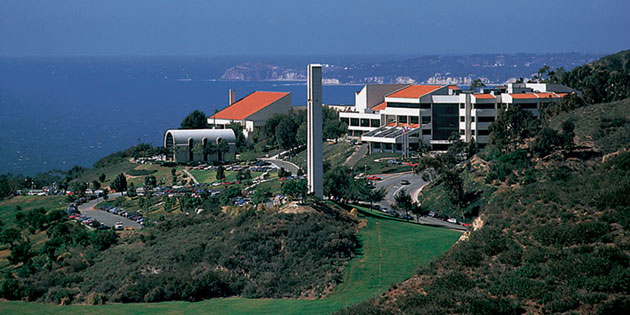 A panoramic view of the Malibu campus - Pepperdine University